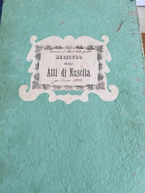 Registro degli Atti di Nascita from 1882
