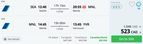 Ana, Manila and Vancouver