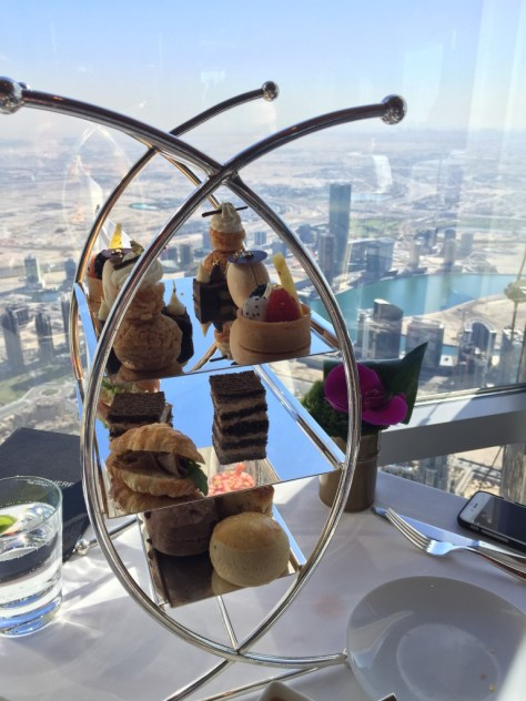 The tower of food with a view