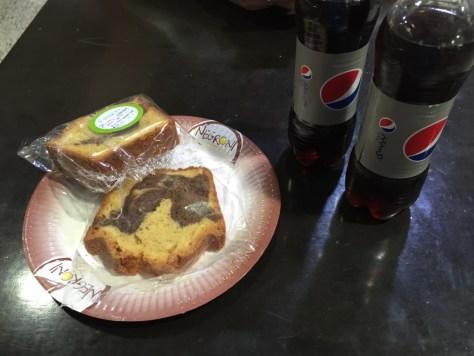 Pepsi and Marble Cake - Mmmmm!!!
