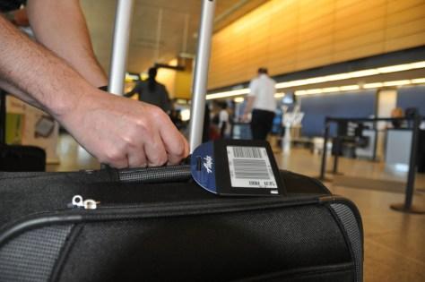 Alaska's new electronic bag tag - courtesy of Alaska Airline's blog