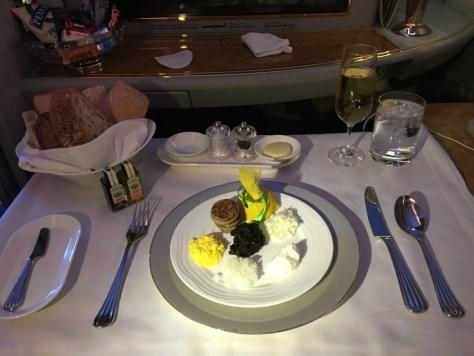 Emirates First Class Caviar