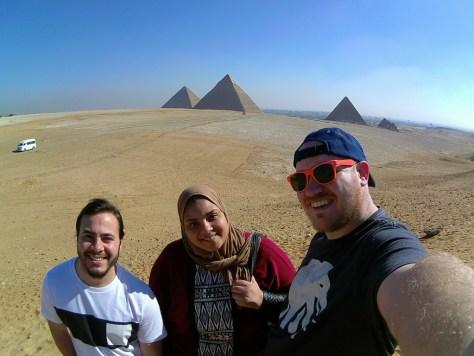 Hanan and Us at the Pyramids