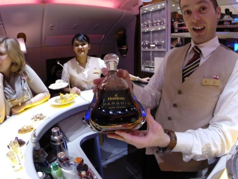 Emirates Hennessy Prive A380 Onboard Bar