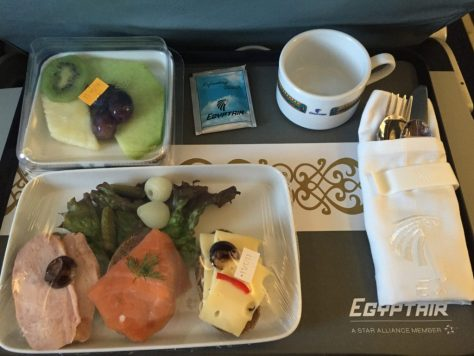 EgyptAir Plated lunch