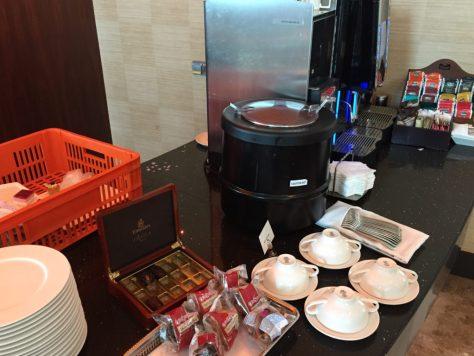 Emirates lounge food selection