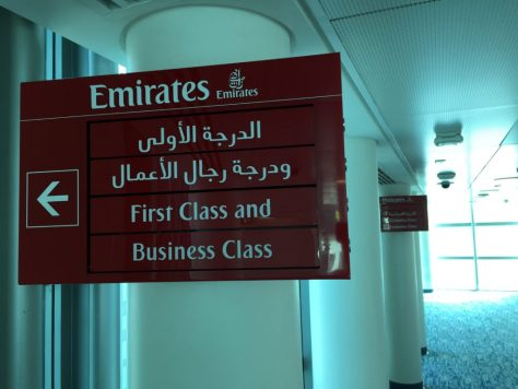 Emirates dedicated check in