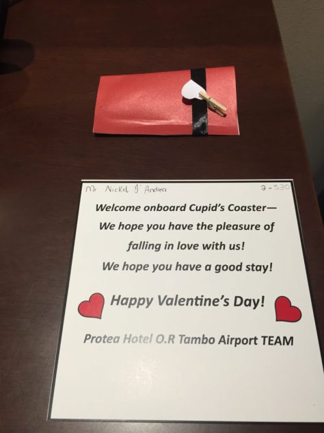 Protea OR Tambo welcome letter