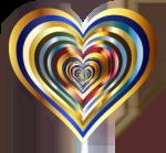 Hearts In Heart Metallic