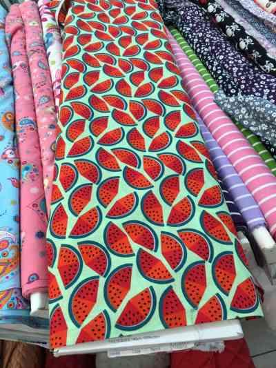 nom d'une couture ! tissu pastèue fruit tropical