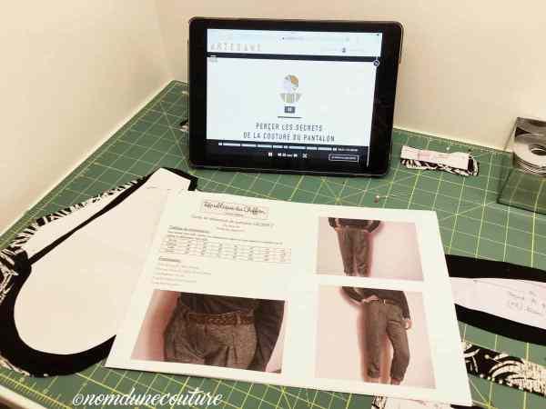 ARTESANE Apprendre à coudre un pantalon Gilbert / Nom d'une couture !