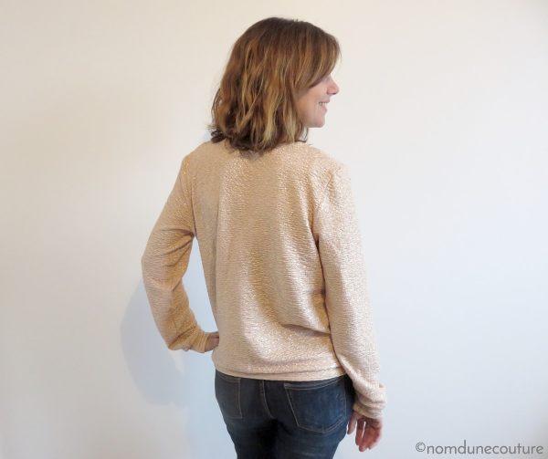 sweat courcelles avec encolure décolleté v en jersey lurex