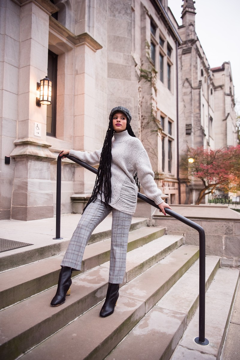 Diamond Grey Monotone Outfit with hat