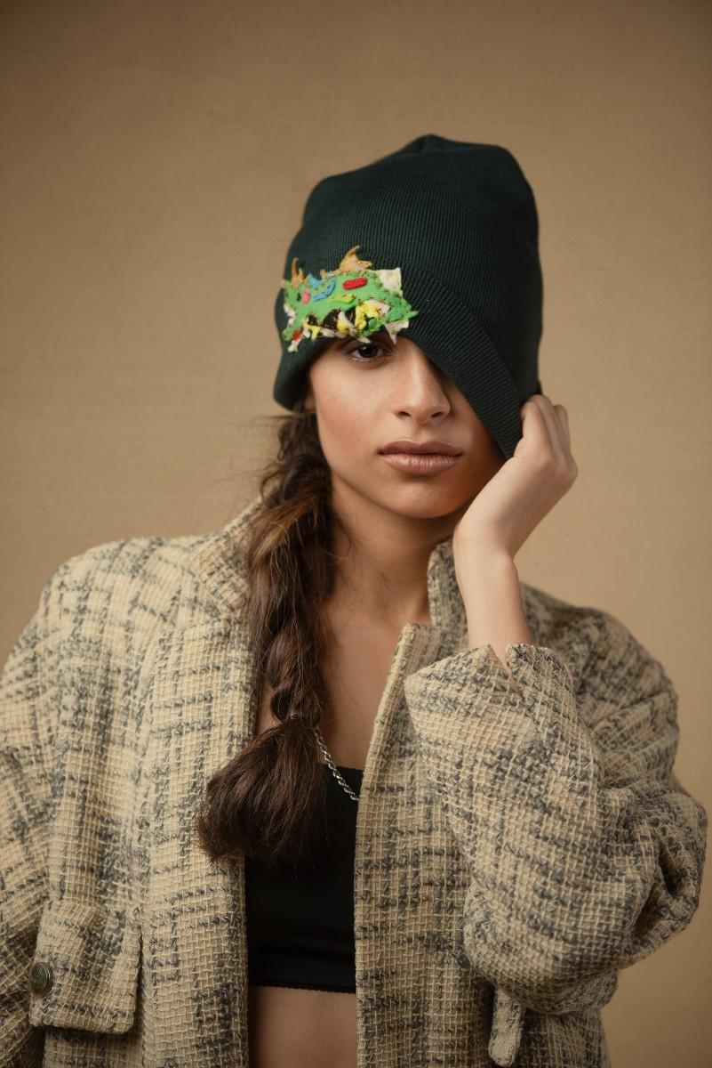 Zoe Fashion oversized coat skully cap by Video Dave