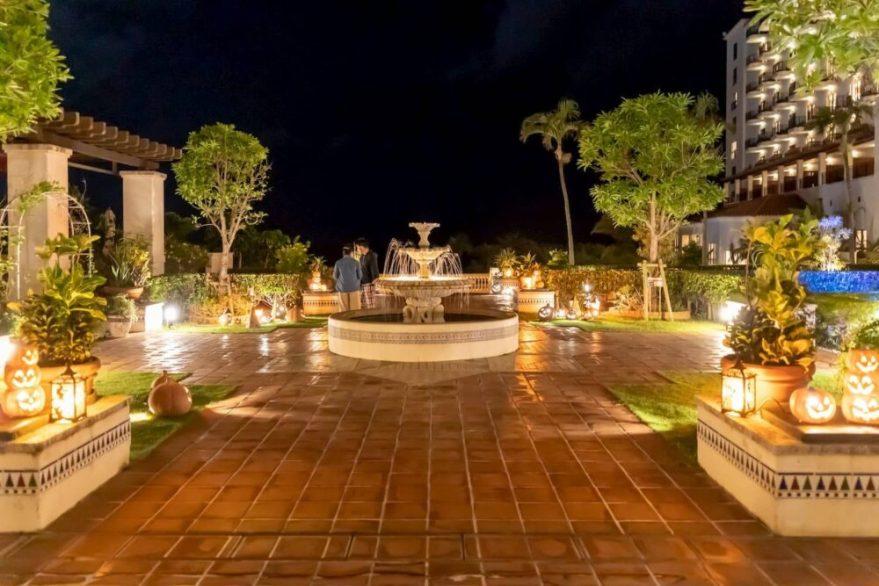 ホテル日航アリビラ中庭