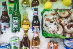 Beer and shrimp