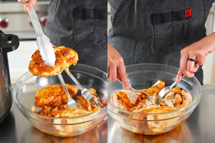 Pressure Cooker Salsa Chicken Tacos by Michelle Tam http://nomnompaleo.com