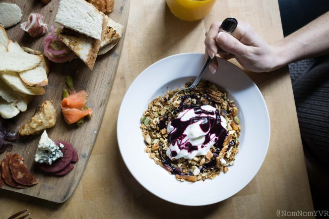 Housemade granola with yogurt