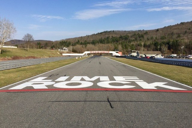 photo of front straight at lime rock park
