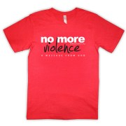 no-more-violence-red-tshirt