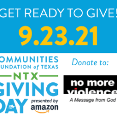 Support No more violence through North Texas Giving Day