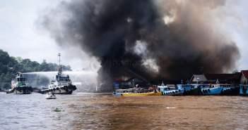 Kebakaran di Samarinda Seberang, 20 KK Kehilangan Tempat Tinggal