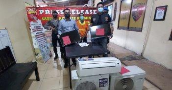 Pencuri TV dan AC Dibekuk Polresta Balikpapan, Hasil Curian untuk Judi Online