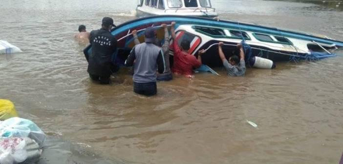 Tabrak Pusaran Air, kapal terbalik di Perairan Kaltara, 5 Meninggal Dunia
