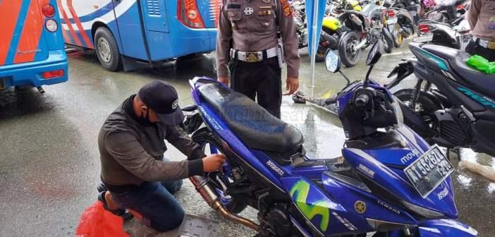 101 Sepeda Motor di Balikpapan Terjaring Razia Knalpot Brong