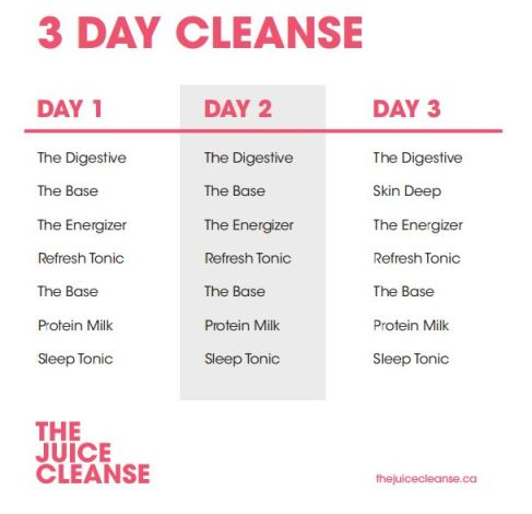 Juice Truck Juice Cleanse 3 Day Plan