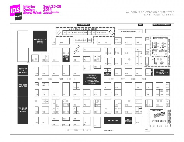 idswest2014 interior design show west vancouver exhibit map