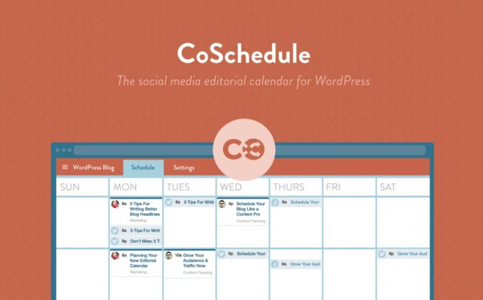 CoSchedule Best Blogging Tool Calender Schedule Nomss Plugin WordPress