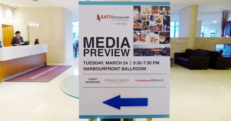 EAT! Vancouver 2015 Media Preview Event | Culinary Event April 26 to May 3, 2015
