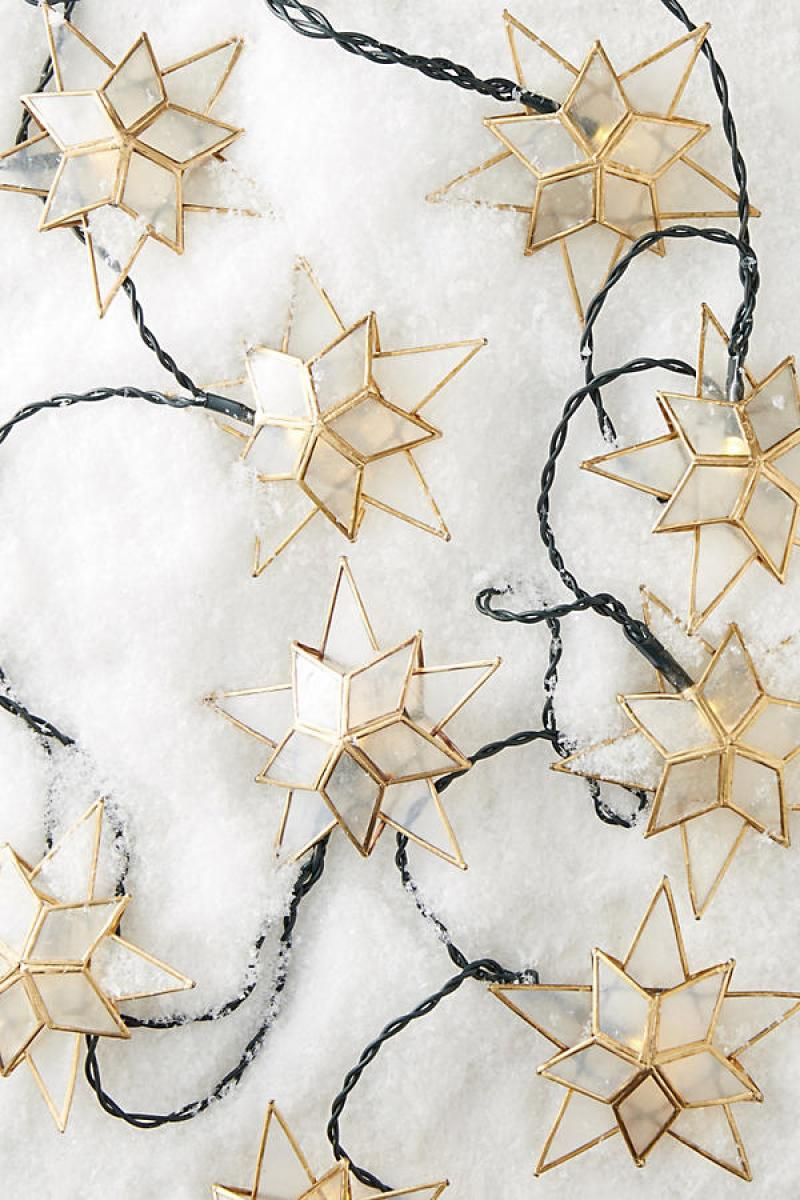 Anthropologie Capiz Star String Lights Christmas Tree | Shopping for the Best Holiday Decor