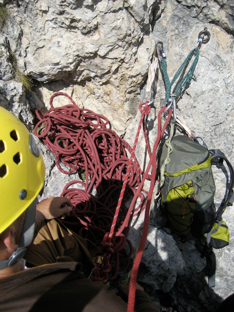 gear used for a rock climbing anchor