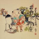 0129 Child in an Old Fashioned Style: a Crane and a Turtle Painting / Katsunobu Kawahito 003