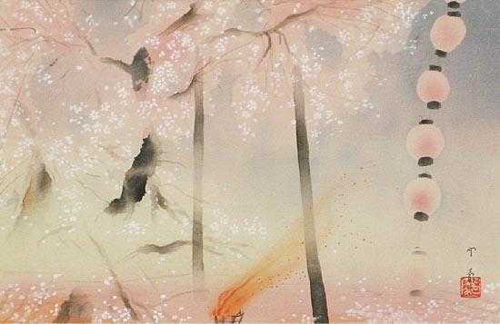 Inshou Doumoto / Cherry Blossoms at Night Picture