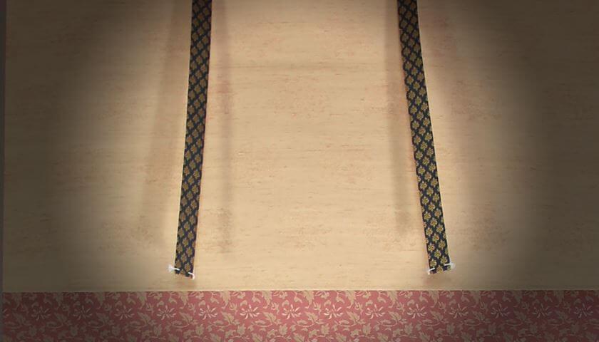 fuutai decorative fabric strip kakejiku hanging scroll
