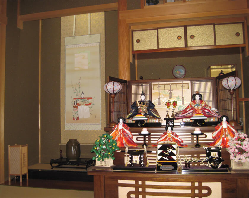 tachibina tokonoma alcove kakejiku scroll
