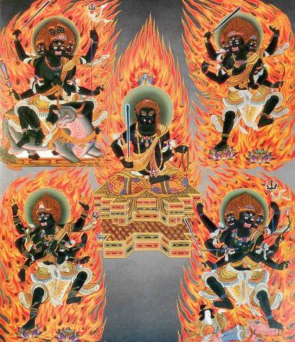 Godai Myouou The Five Wisdom Kings