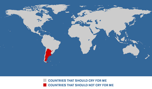 Countries that should cry for me