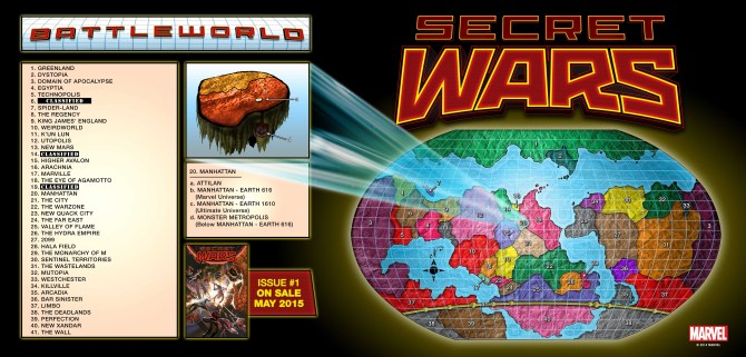 Click to embiggen the Secret Wars Battleworld Map