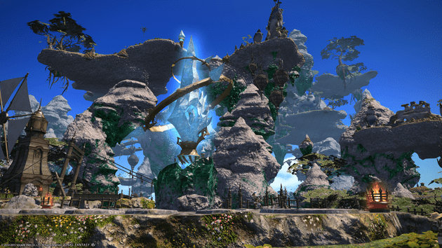 The Sea of Clouds is one of the many beautiful looking locations you travel to in Heavensward.