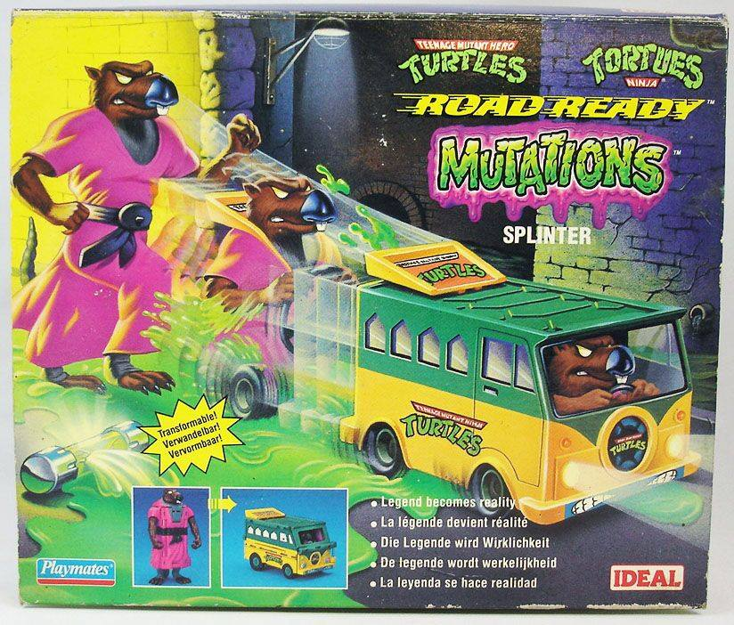 If you pay attention, you can see Splinter driving himself.