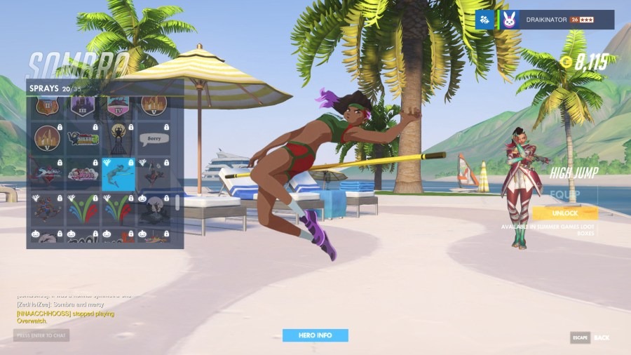 New Overwatch Summer Games Cosmetics    Non Productive com Six new medal themed Victory Poses for Bastion  Tracer  Symmetra  Sombra   Mercy  and Hanzo