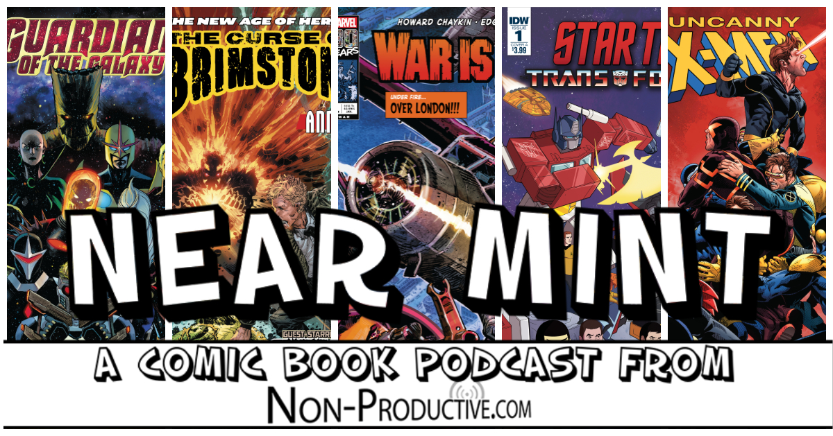 Near Mint – Star Trek vs Transformers, X-Men in Time, Brimstone meets Constantine and Swamp Thing, and War Comics!
