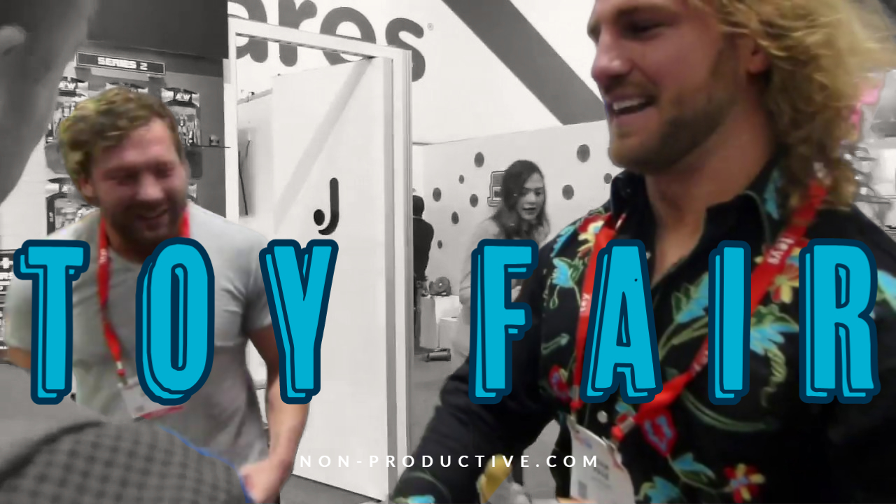 Kenny Omega and Adam Page at Toy Fair!