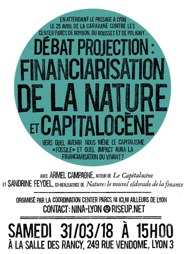 debat projection capitalocène financiarisation de la nature NINA Lyon