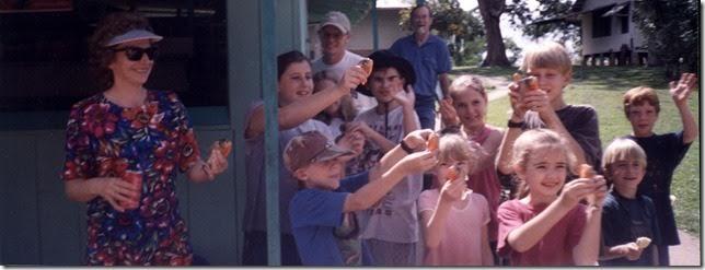 Karen Keagy with Students