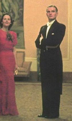 Max bersama aktris Magda Schneider - Max dikenal sebagai pedansa yang handal